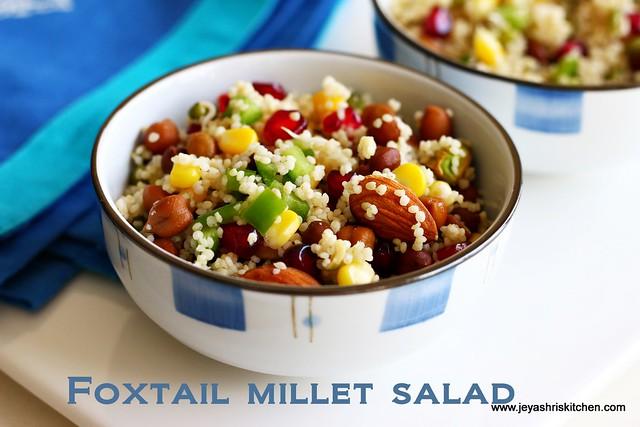 foxtail millet-salad