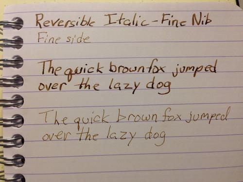 Reversible Italic/Fine Nib