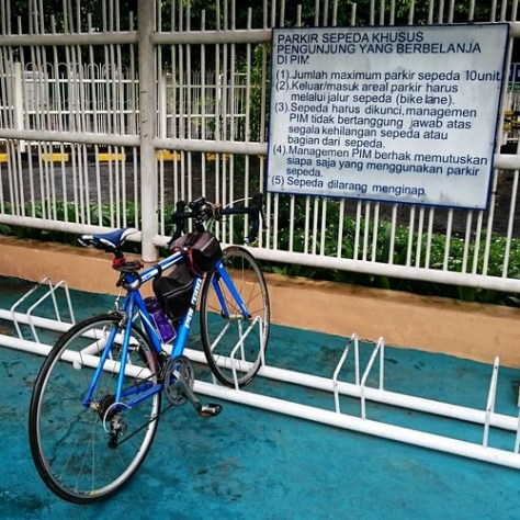 Bike Parking at Pondok Indah Mall 2