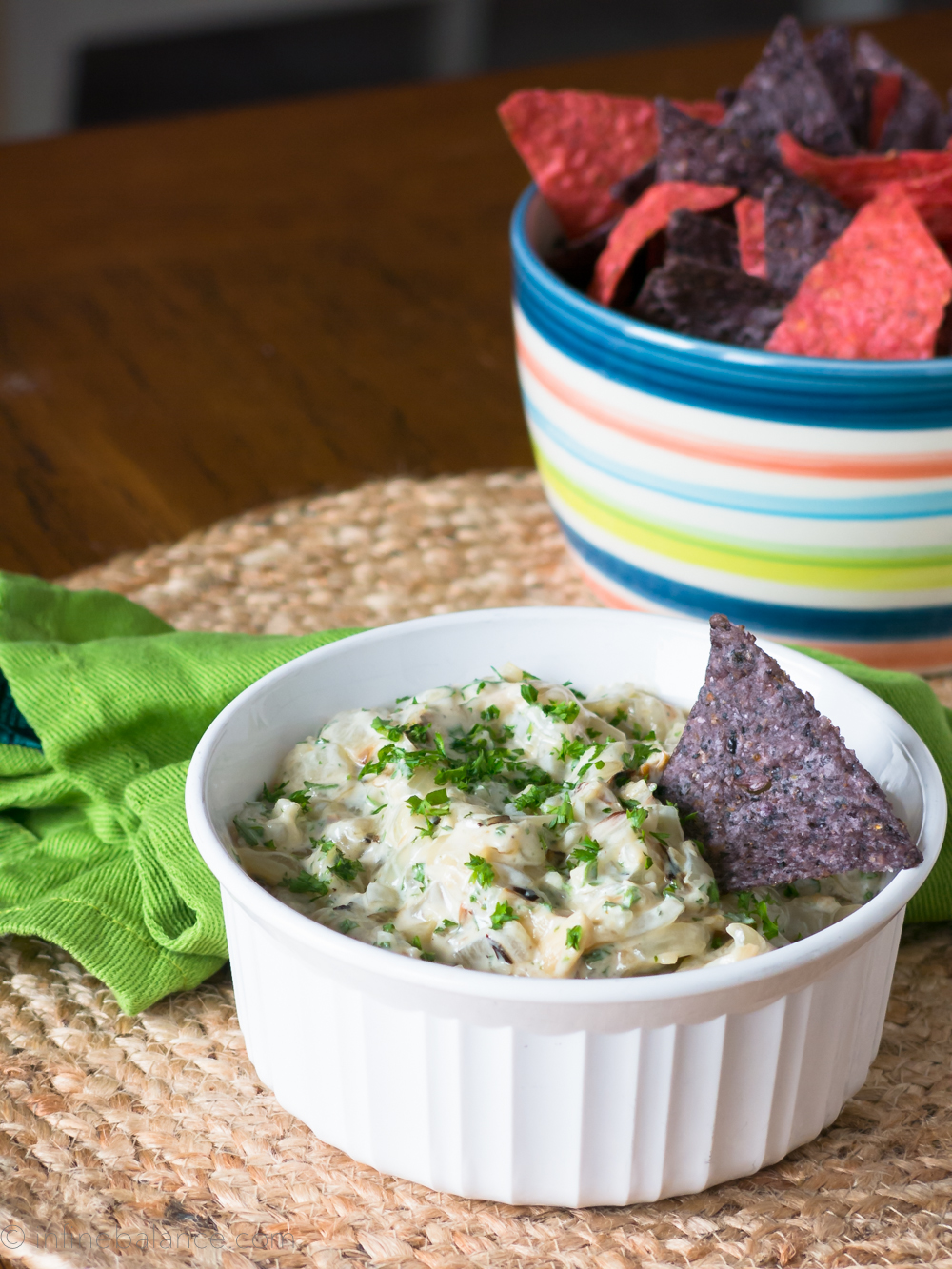 Roasted Sweet Onion Dip | www.infinebalance.com #gluten-free #vegetarian #recipe