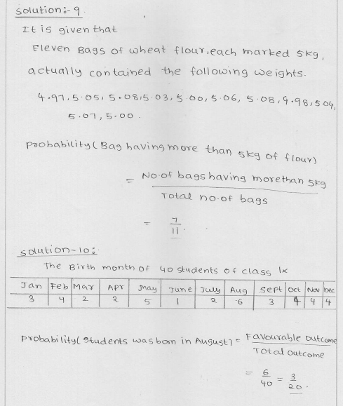 RD Sharma Class 9 Solutions Chapter 25 Probability 7