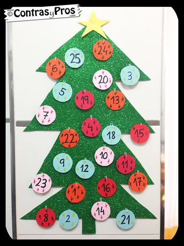 Calendario de Adviento, niños, DIY, casero, manualidades, vídeo, paso a paso, Navidad