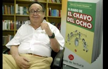 """Roberto Gómez Bolaños, en entrevista con La Jornada en 2005 con motivo del lanzamiento de su libro """"El diario de El Chavo del Ocho"""". Foto María Luisa Severiano"""