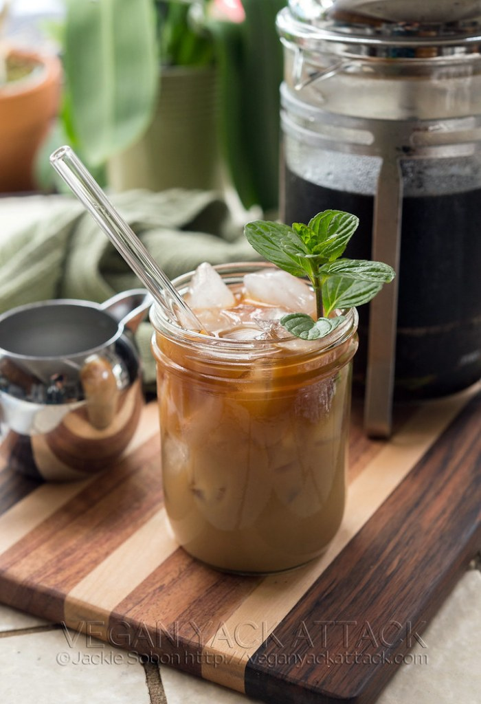 A simple recipe with all natural ingredients for Mint Mocha Cold Brew, plus how to turn it into a body scrub! Vegan, Cruelty-free