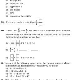 Class 7 Important Questions for Maths – Rational Numbers   AglaSem Schools [ 5043 x 638 Pixel ]
