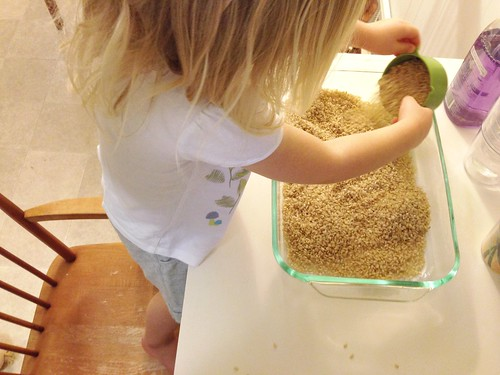 measuring brown rice
