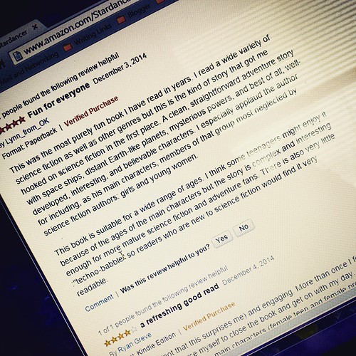 The reviewers speak: Five stars for STARDANCER!  http://amzn.to/1BR5p0G #ya #scifi