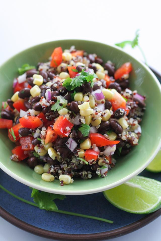 quinoa black bean salad [ inthiskitchen.com ]
