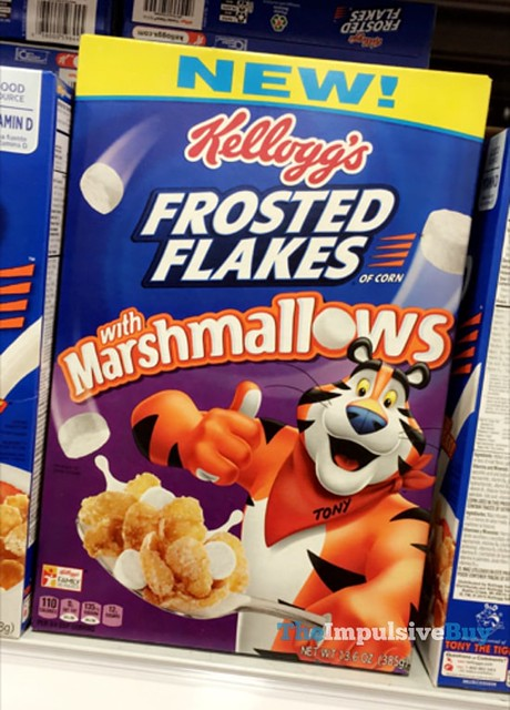 Kellogg's Frosted Flakes with Marshmallows Cereal
