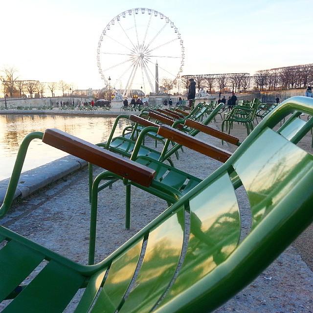 Winter in the Tuileries garden.  #Paris
