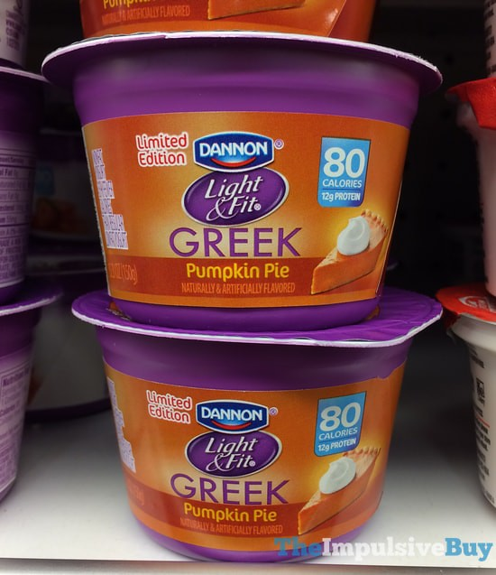 Limited Edition Dannon Light & Fit Greek Pumpkin Pie