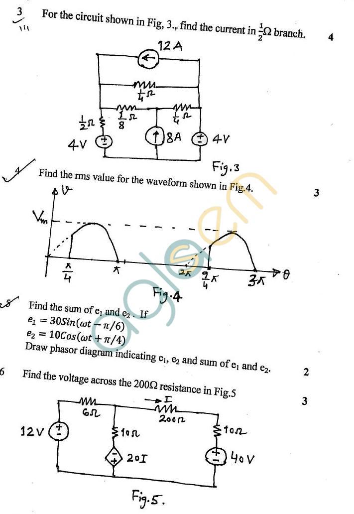 DTU: Question Papers 2012 – 1 Semester – Mid Sem