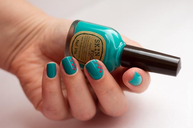 03 Skin Food nail Vita red RE108 blue BL514 Ann Sokolova swatches