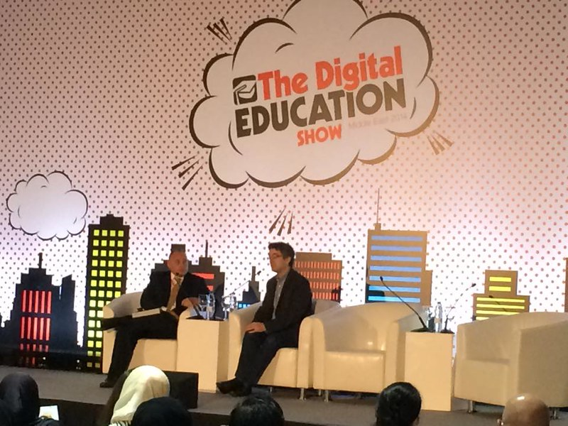 Me at Digital Education Conference, Middle East