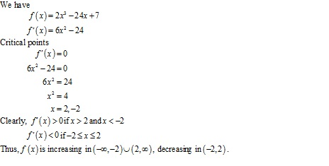 RD Sharma Class 12 Solutions Chapter 17 Increasing and Decreasing Functions Ex 17.2 Q1-xvii