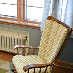 How To Recover Glider Rocking Chair Cushions Kids Salon Reupholstering A Nursery