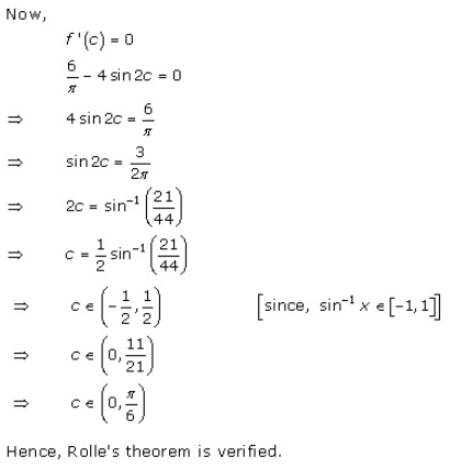 RD Sharma Class 12 Solutions Chapter 15 Mean Value Theorems Ex 15.1 Q6-xv