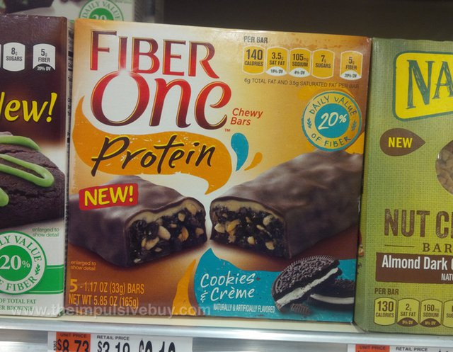 Fiber One Protein Cookies & Creme