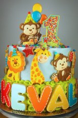 Baby Safari cookie decorated cake