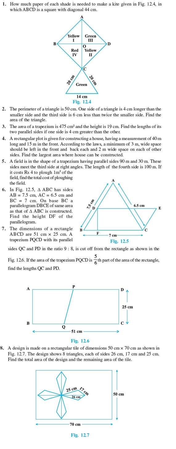 Class 9 Important Questions for Maths - Herons Formula