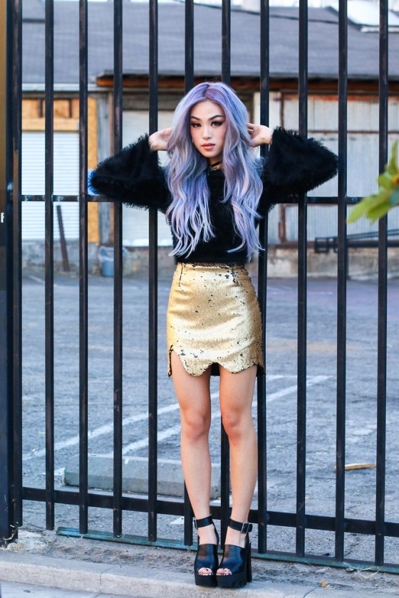 Ellen V Lora Gold Skirt