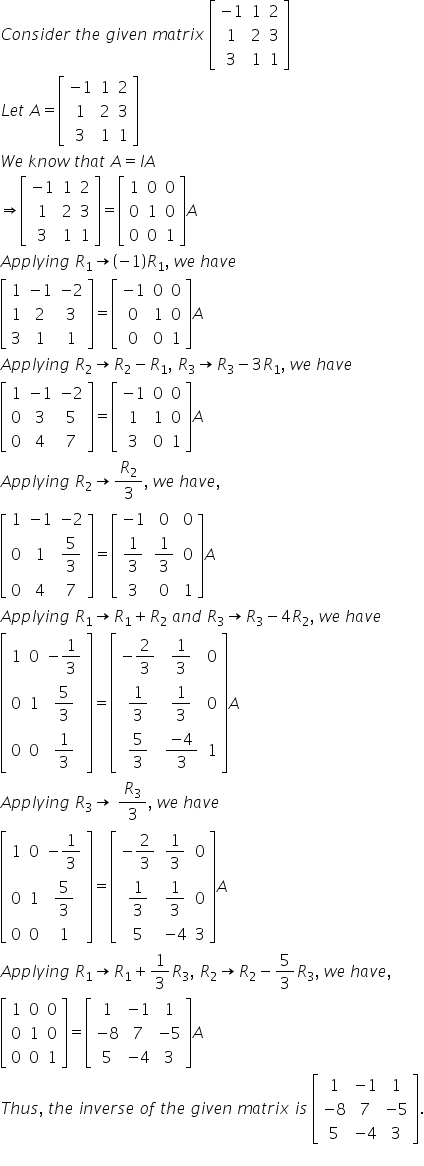 Maths RD Sharma Class 12 Solutions Chapter 7 Adjoint and