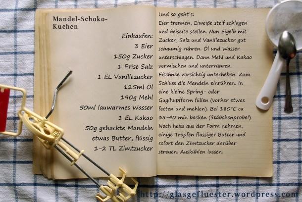Einkaufszettel Mandel-Schokokuchen by Glasgeflüster