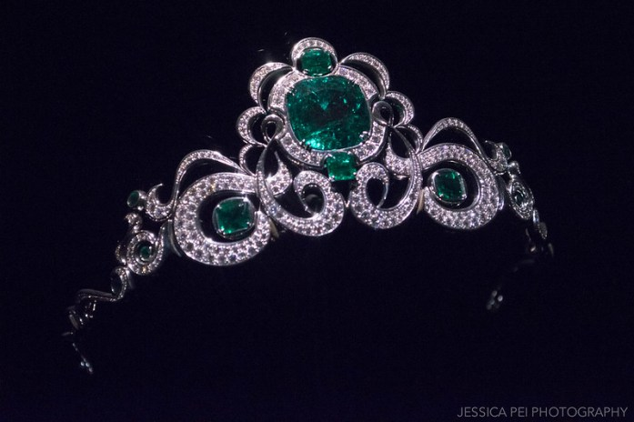 Emerald and Diamond Tiara Houston Museum of Natural Science