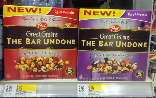 Post Great Grains The Bar Undone Granola Snack Mix