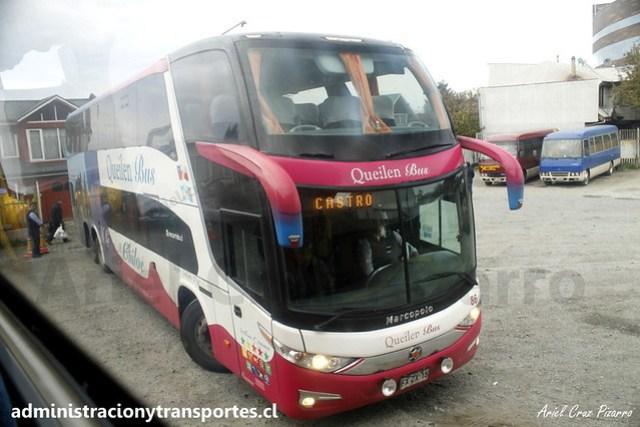 Queilen Bus (86) - Castro (Chiloé) - Marcopolo Paradiso 1800 DD / Mercedes Benz (FXZX15)