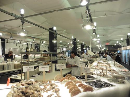 Dónde comer y gastronomía en Nueva York: Marisco en Lobster Place Seafood Market.