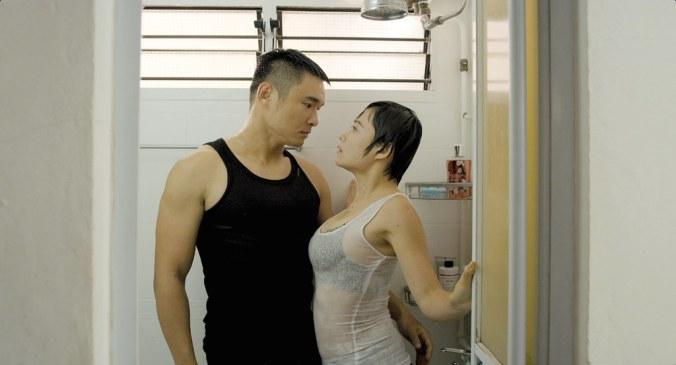Yeo Yann Yann's character tries to seduce her plumber in The Plumber