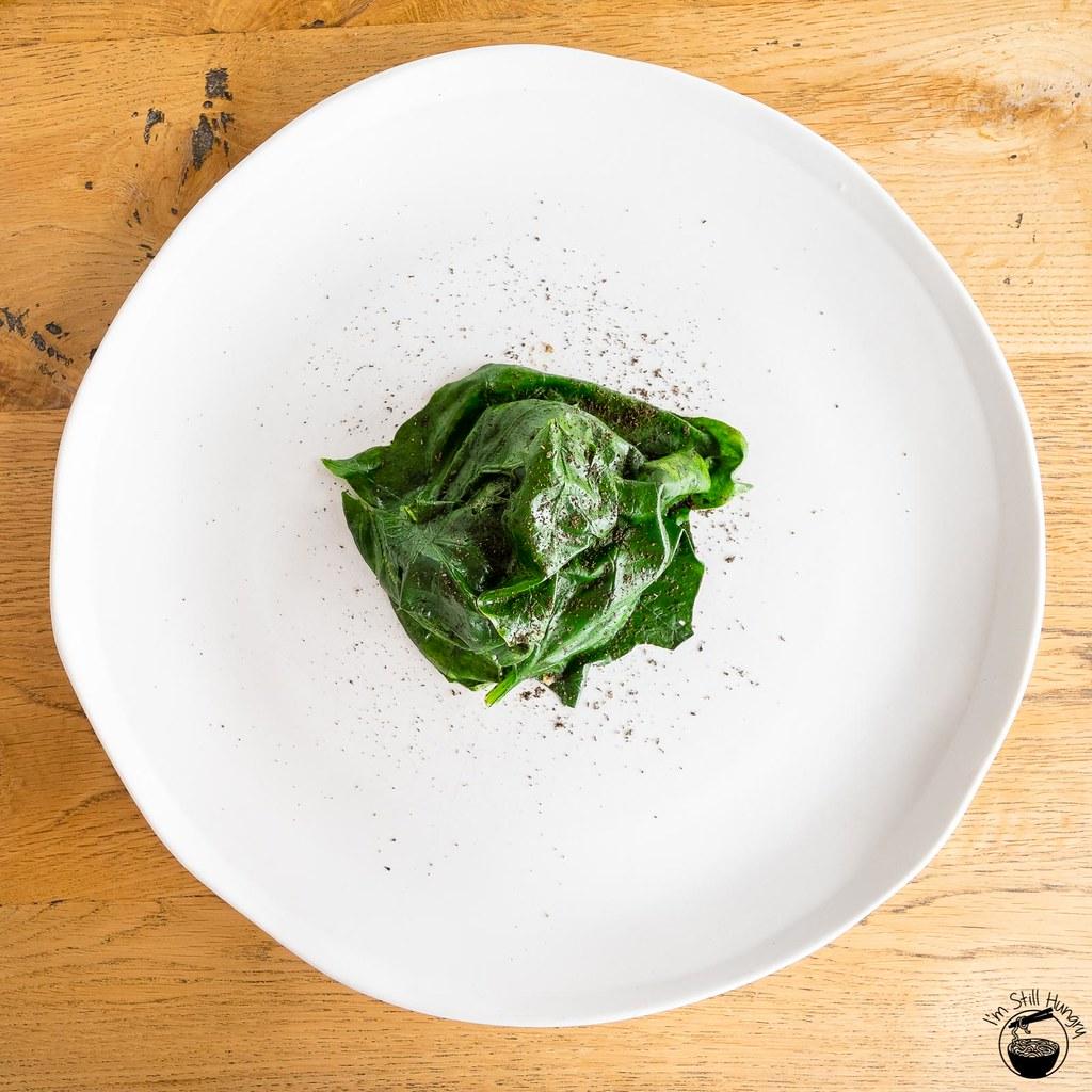 LuMi Dining Pyrmont Kurobuta pork jowl w/spinach, cauliflower & quinoa