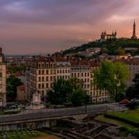 View from Jardin des Plantes, Lyon, France