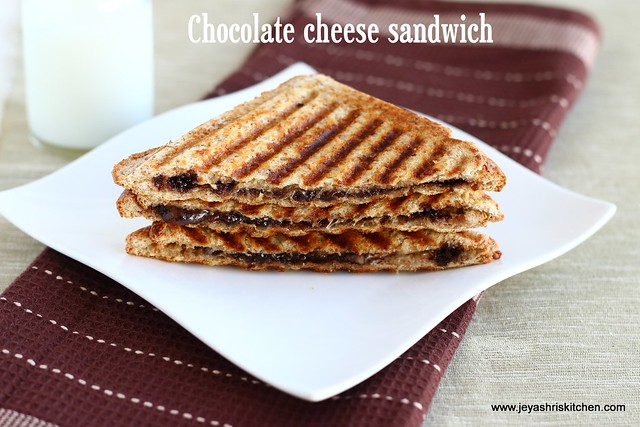 Grilled -chocolate cheese sandwich