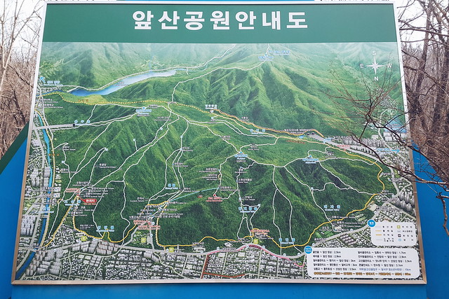 DAEGU // HIKING APSAN - TRAIL TO MT. SANSEONG // trail map