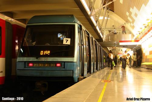 Metro de Santiago - Alstom NS93 - Manquehue (Línea 1)