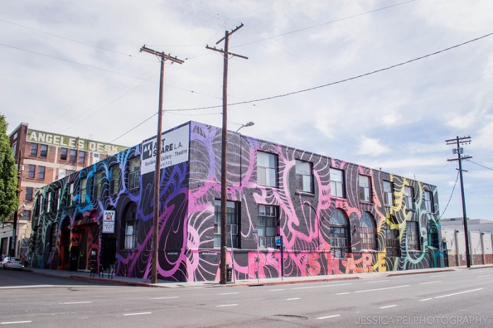 LA California Arts District Graffiti Mural