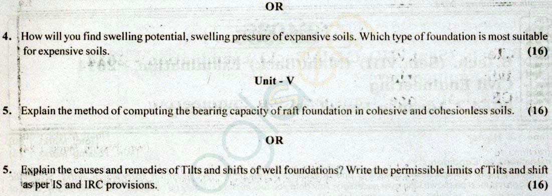 RTU: Question Papers 2014 - 8 Semester - CE - 8E4035