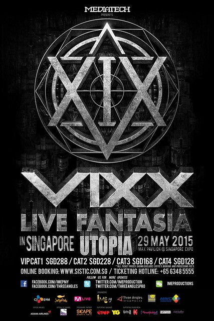 VIXX Live Fantasia Utopia in Singapore 2015 Poster sgXCLUSIVE