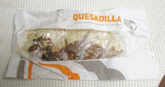 Taco Bell Double Crispy Chicken Quesadilla