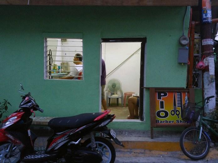 green barbershop in Altura, Sta Mesa, Manila 3