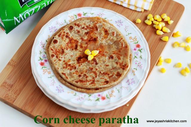 corn-cheese paratha