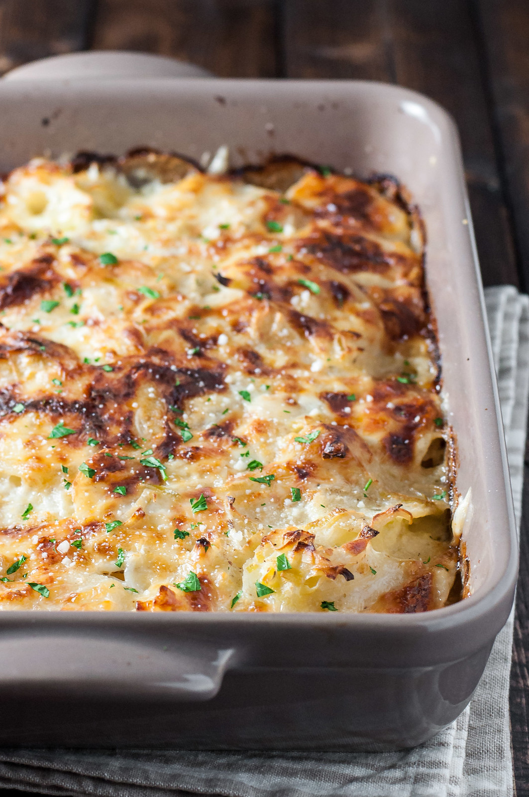 Life-saving, gluten-free potato gratin with leeks