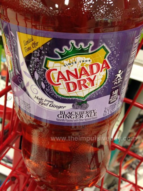 Canada Dry Limited Time Offer Blackberry Ginger Ale