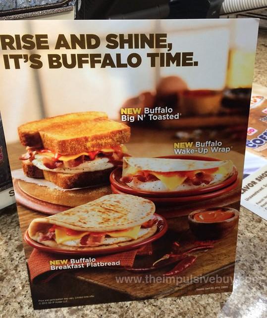 Dunkin' Donuts Buffalo Big N' Toasted, Breakfast Flatbread, and Wake-Up Wrap