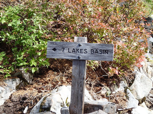 7 Lakes Basin Sign