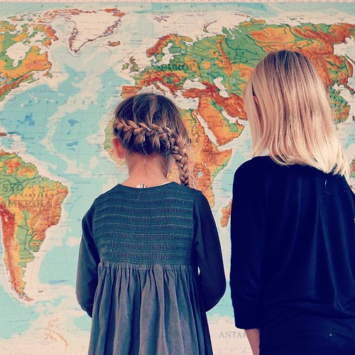 We're planning on doing something totally different for Christmas this year, and this evening it inspired the game 'find the country'. Love to have the map in place! #worldmap #world #travel #countries #sisters