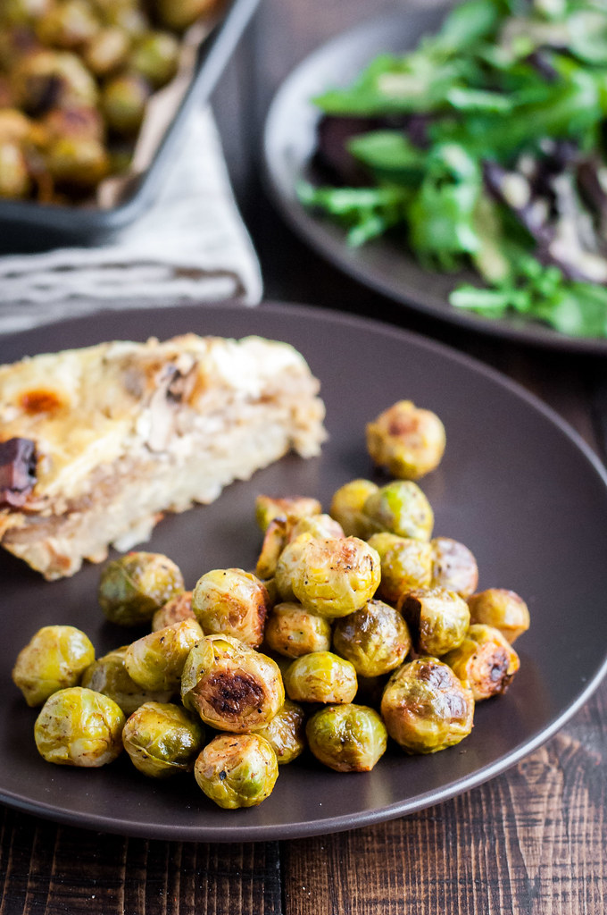 Easy vegan roasted Brussels sprouts with lemon and smoked paprika
