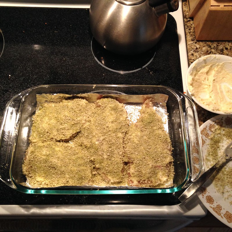 put chicken in one layer in a pan / baking dish and cook at 400° for 30-40 minutes
